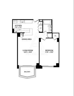 floorplan for 220 East 65th Street #22F