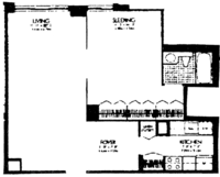 floorplan for 220 East 65th Street #16J