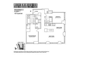 floorplan for 2 River Terrace #7D