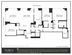 floorplan for 845 United Nations Plaza 78C-FURN
