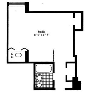 floorplan for 5 Tudor City Place #1930