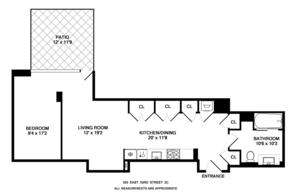 floorplan for 303 East 33rd Street #2CT