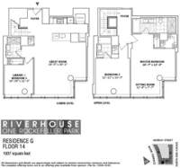 floorplan for 1 River Terrace #14G