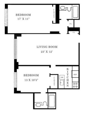 floorplan for 220 East 65th Street #22K