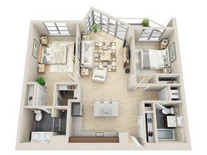 floorplan for 111 Kent Avenue #2T