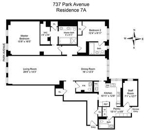 floorplan for 737 Park Avenue #7A