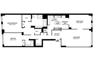 floorplan for 15 Central Park West #34B