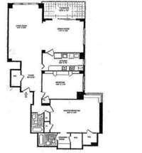 floorplan for 150 East 69th Street #9T