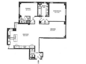 floorplan for 737 Park Avenue #5G
