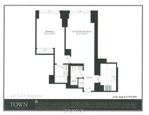 floorplan for 845 United Nations Plaza #6C