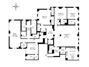 floorplan for 737 Park Avenue #12E