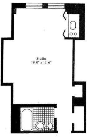 floorplan for 5 Tudor City Place #1802