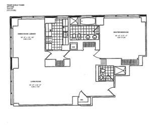 floorplan for 845 United Nations Plz #58E
