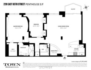 floorplan for 220 East 65th Street #PHEF