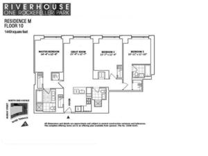 floorplan for 2 River Terrace #10M