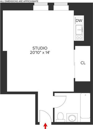 floorplan for 5 Tudor City Place #2003