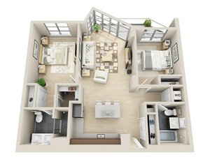 floorplan for 111 Kent Avenue #6K