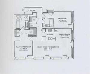 floorplan for 2 River Terrace #9D