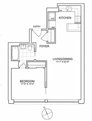 floorplan for 461 West 150th Street #2A