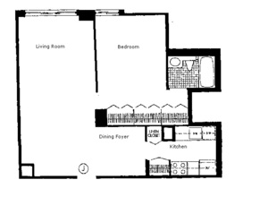 floorplan for 220 East 65th Street #8J