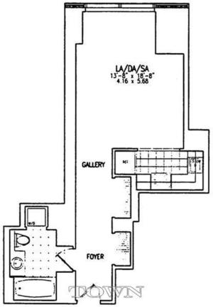 floorplan for 845 United Nations Plaza #9F