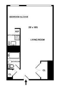 floorplan for 200 East 36th Street #2F
