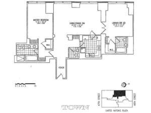 floorplan for 845 United Nations Plaza #61D