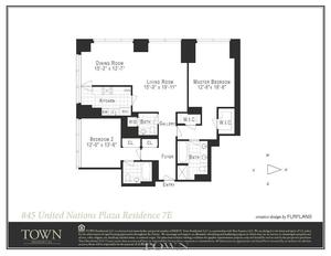 floorplan for 845 United Nations Plaza #7E