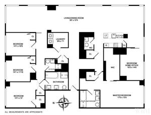 floorplan for 2 River Terr #25AB
