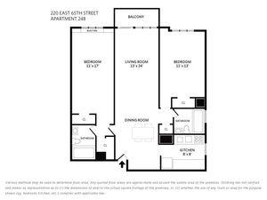 floorplan for 220 East 65th Street #24B