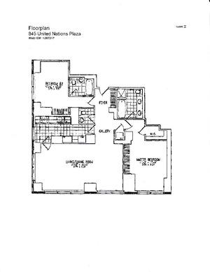 floorplan for 845 UN Plaza