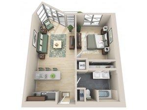 floorplan for 111 Kent Avenue #5G