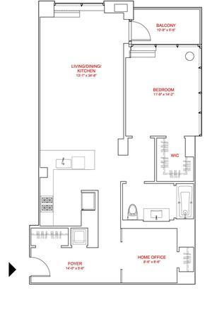 floorplan for 303 East 33rd Street #6C