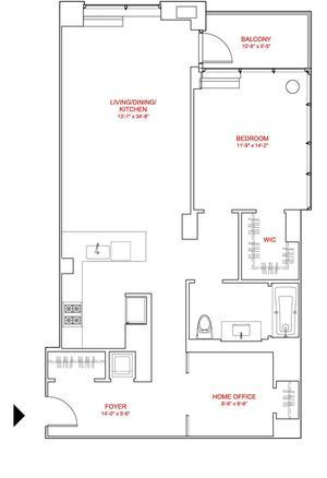 floorplan for 303 East 33rd Street #6C