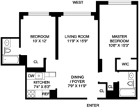 floorplan for 220 East 65th Street #10K