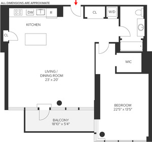 floorplan for 303 E 33rd Street #11G