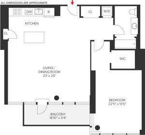 floorplan for 303 E 33rd Street #11G