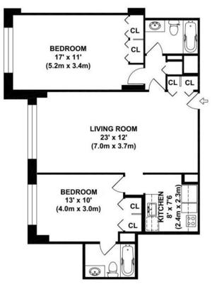 floorplan for 220 East 65th Street #19K
