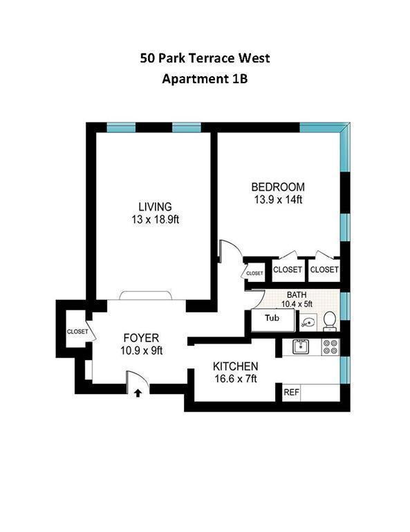 Streeteasy 50 park terrace west in inwood 1b sales for 50 park terrace west
