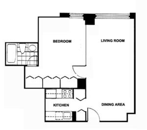 floorplan for 220 East 65th Street #4A