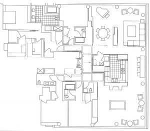 floorplan for 2 River Terrace #RH8