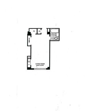 floorplan for 5 Tudor City Place #1208