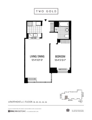 floorplan for 2 Gold Street #2008