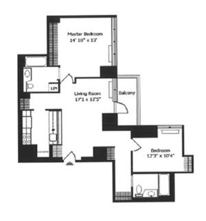 floorplan for 422 East 72nd Street #5F