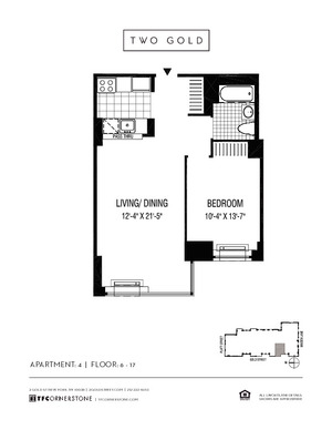 floorplan for 2 Gold Street #1404