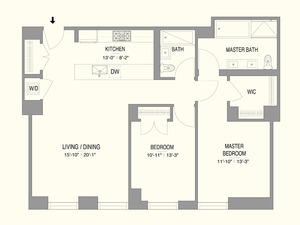 floorplan for 55 West 17th Street #1003