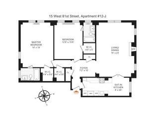 floorplan for 15 West 81st Street #12J
