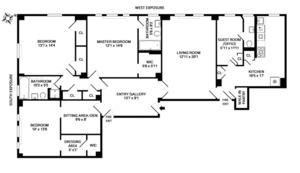 floorplan for 221 West 82nd Street #2F