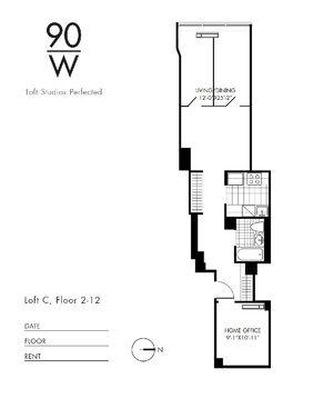floorplan for 90 Washington Street #7C