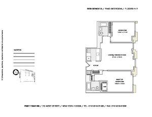 floorplan for 75 West Street #4O